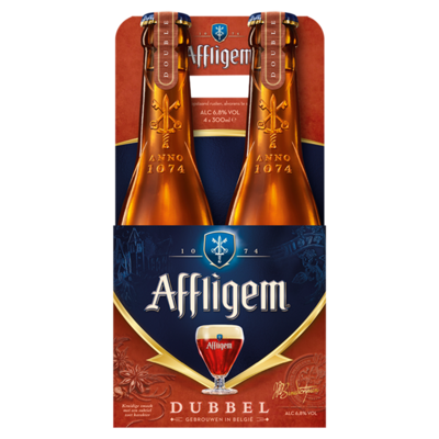 Affligem Dubbel Bier Fles 4 x 30 cl