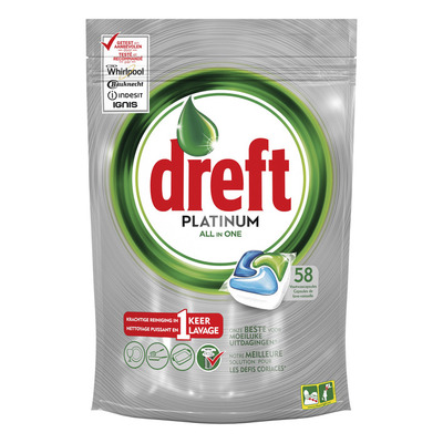 Dreft Platinum vaatwastabletten regular