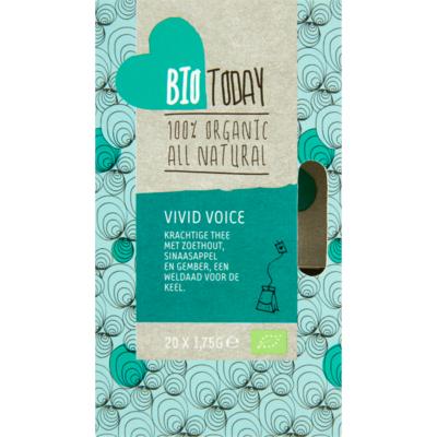 Bio Today Thee organic biologisch vivid voice 20 zakjes