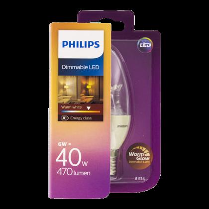 Philips Lamp LED 40W B38 WW CL kleine fit