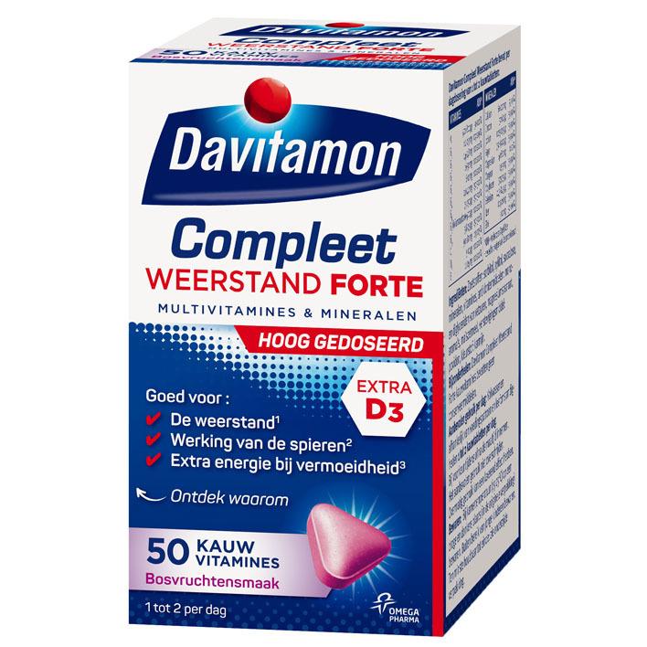 Davitamon Compleet weerstand forte kauwvitamines