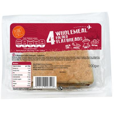 Planet Deli Wholemeal folded flatbread