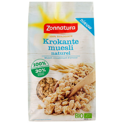 Zonnatura Krokante muesli naturel bio