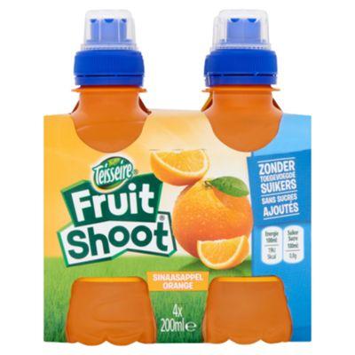 Teisseire Fruit Shoot Sinaasappel Fles 4 X 20 Cl