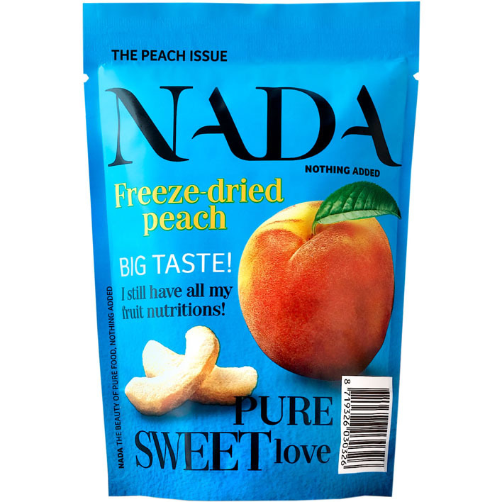 Nada Nothing Added Freeze dried peach