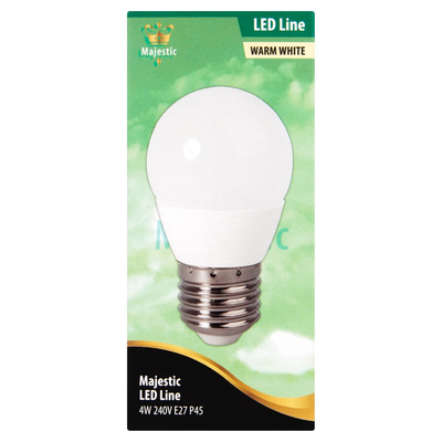 Majestic Led Kogellamp Warm White 4W E27