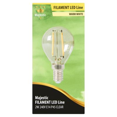 Majestic Volglas Led Kogellamp Warm White 2W E14