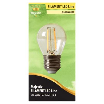 Majestic Volglas Led Kogellamp Warm White 2W E27