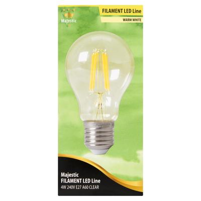 Majestic Filament LED Line Warm White 4W E27