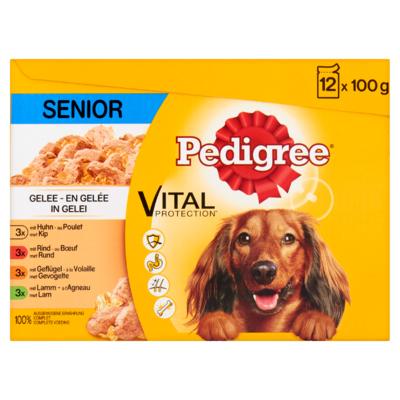 Pedigree Hondenvoer Nat Vital Protection in Gelei Senior 12 Maaltijdzakjes x 100 g