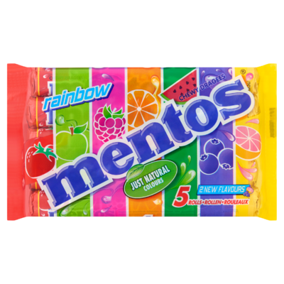 Mentos Chewy Dragees Rainbow Rollen 5 x 37,5 g