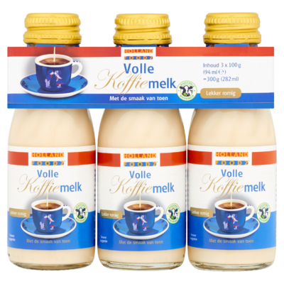 Holland Foodz Volle Koffiemelk 3 x 100 g