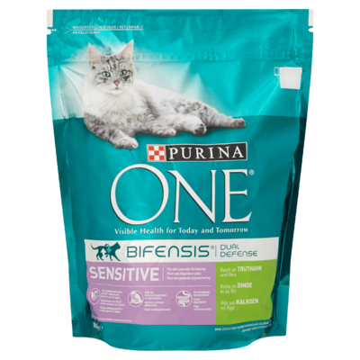 Purina ONE Bifensis Dual Defense Sensitive Kalkoen 800 g