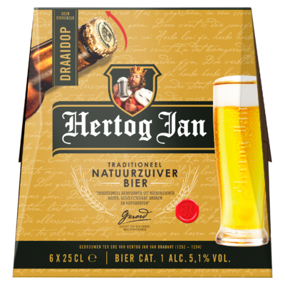 Hertog Jan Traditioneel Natuurzuiver Pilsener Flessen 6 x 25 cl