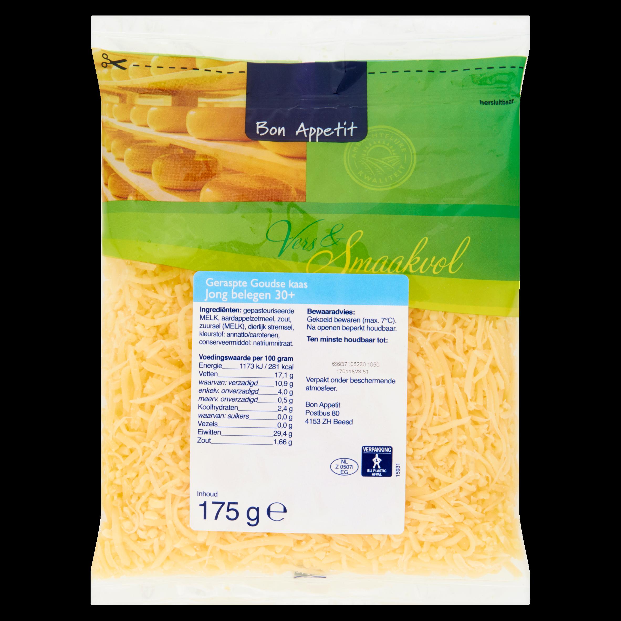 Bon Appetit Geraspte Goudse Kaas Jong Belegen 30+ 175 g