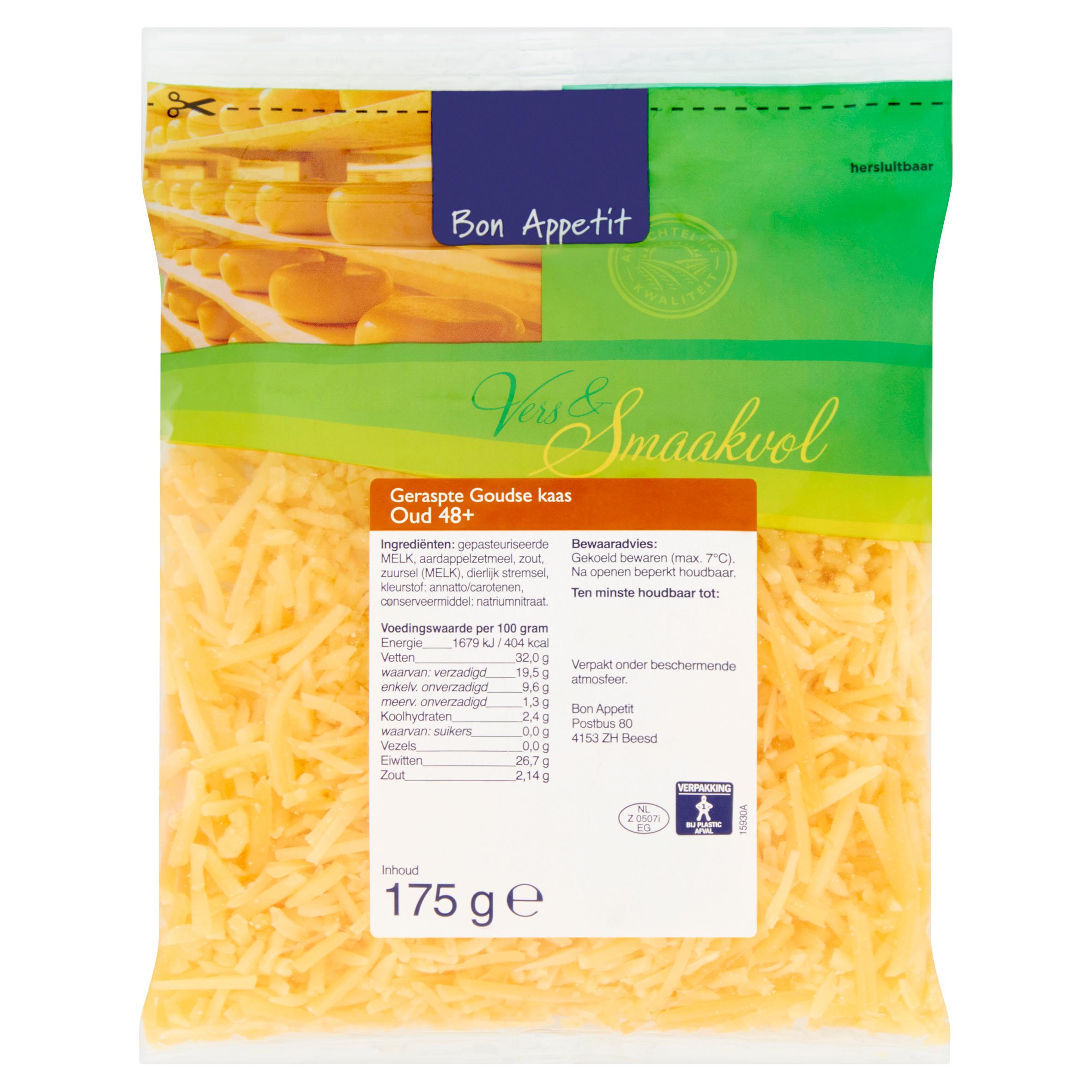 Bon Appetit Geraspte Goudse Kaas Oud 48+ 175 g