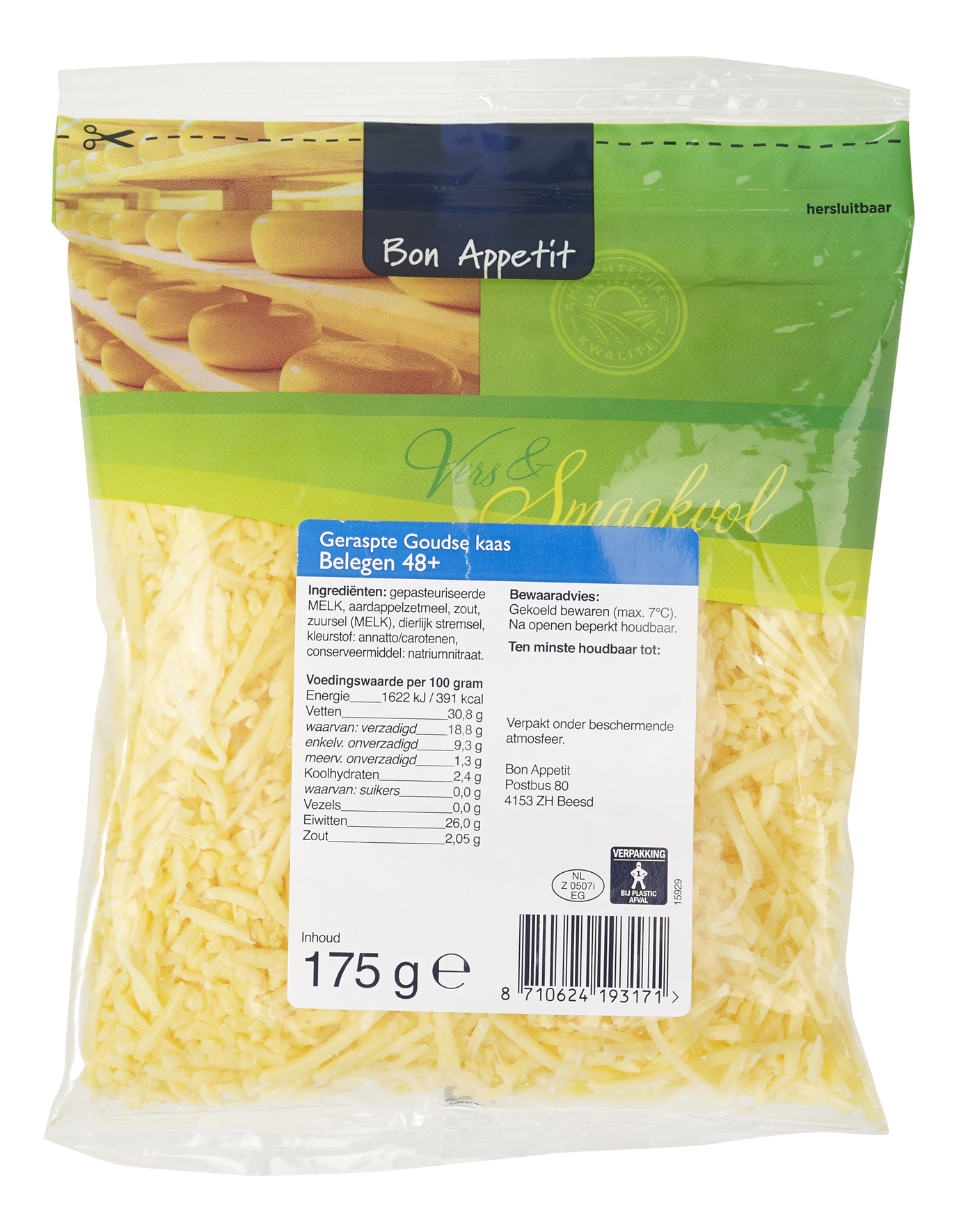 Bon Appetit geraspte kaas  belegen