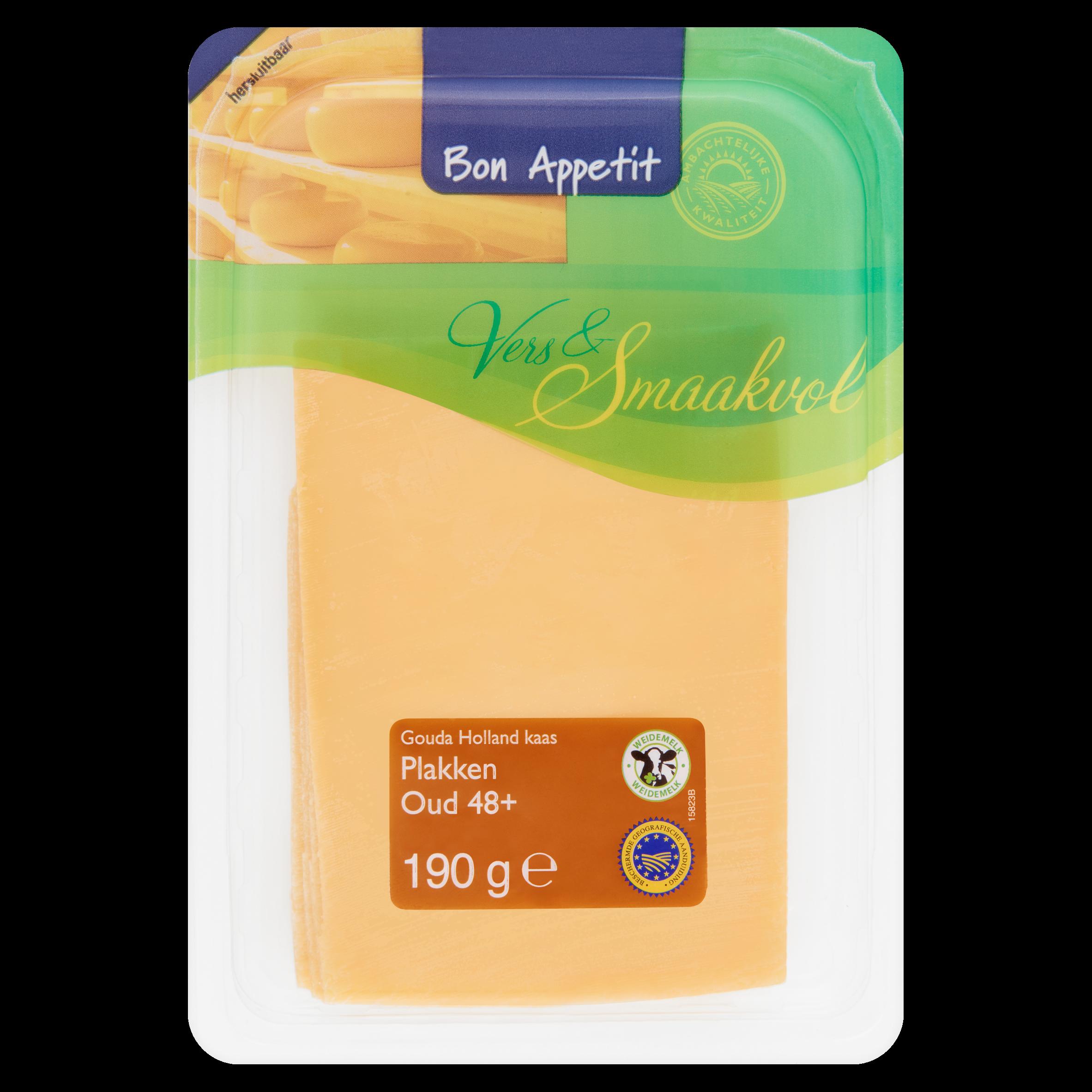 Bon Appetit Gouda Holland Kaas Oud 48+ Plakken 190 g