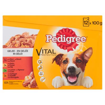 Pedigree Hondenvoer Nat Vital Protection in Gelei 12 Maaltijdzakjes x 100 g
