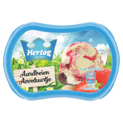 Hertog IJs Aardbeien Avontuurtje 200 ml
