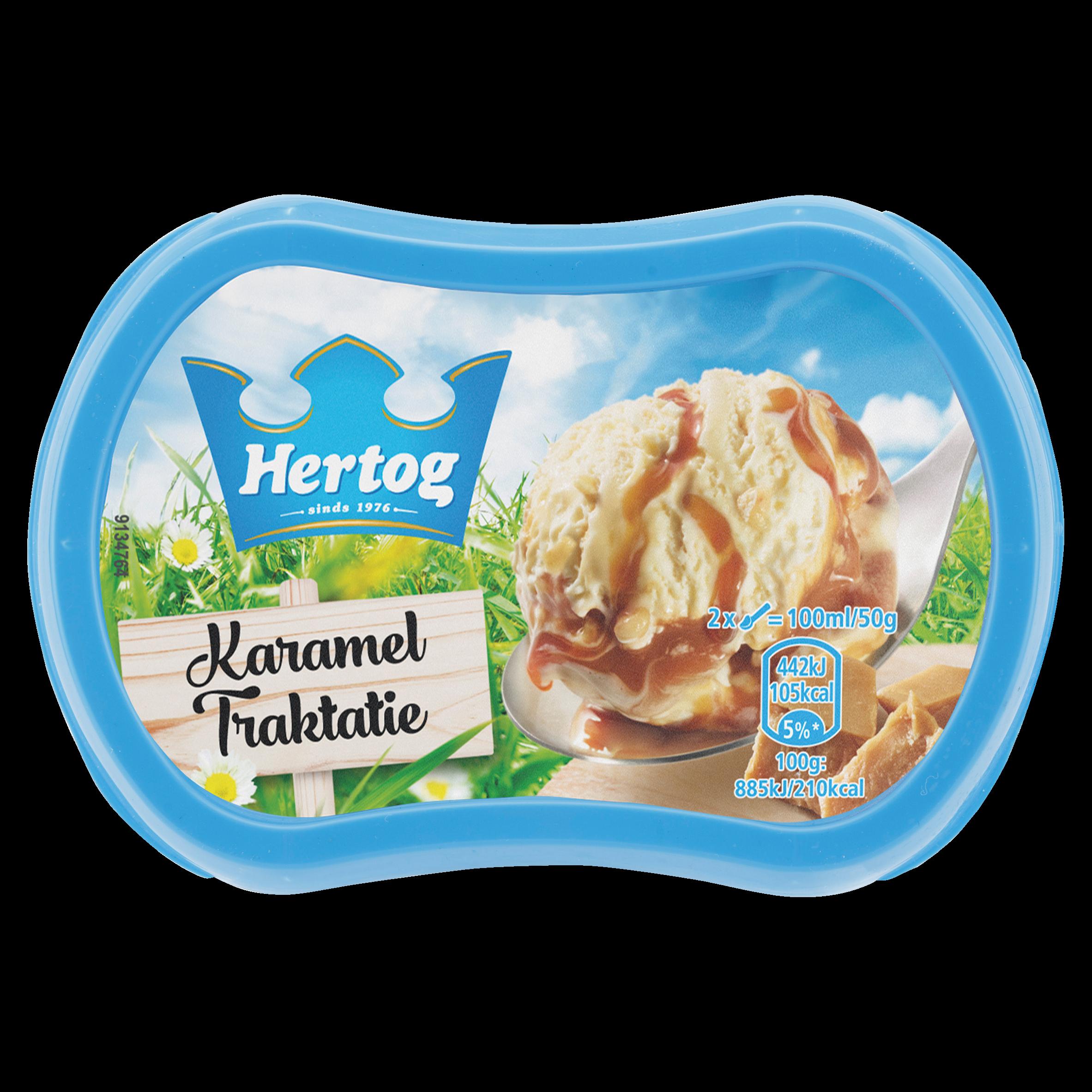 Hertog IJs Karamel Traktatie 200 ml