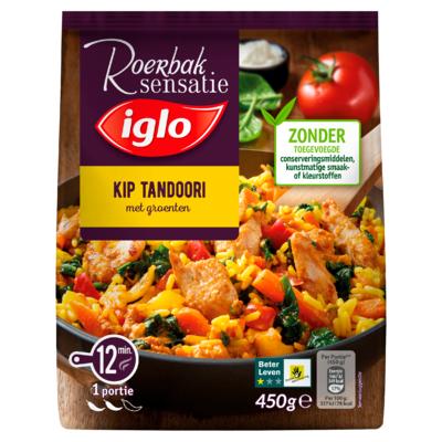 Iglo Roerbaksensatie Kip Tandoori met Groenten 450 g