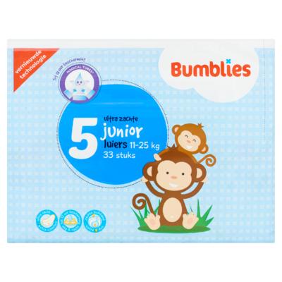 Bumblies Luiers 5 Junior Ultra Zachte 11-25 kg 33 Stuks
