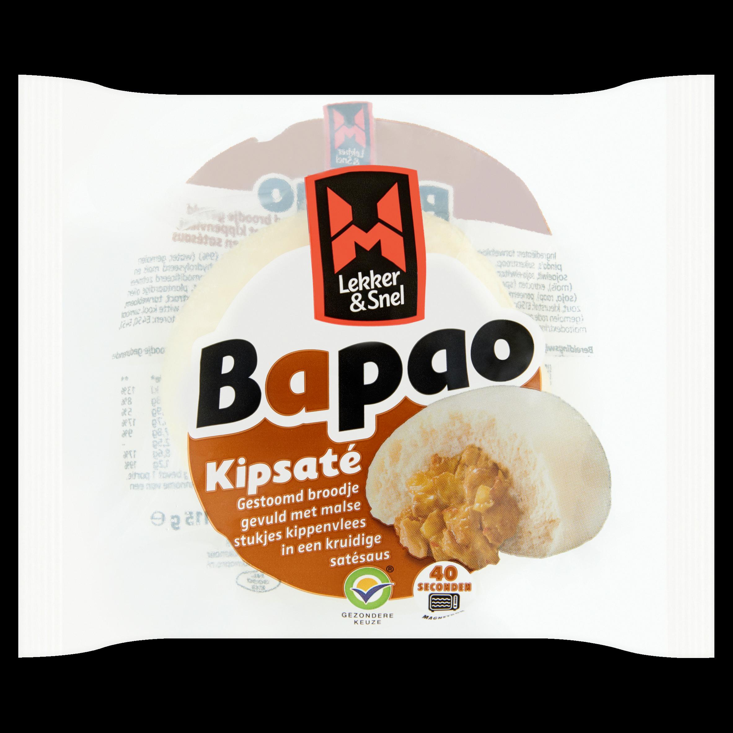 Lekker & Snel Bapao Kipsaté 115 g