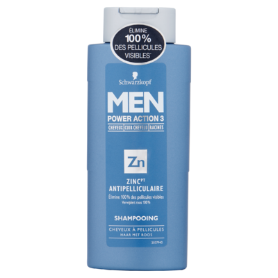 Schwarzkopf MEN Power Action 3 Zinc Anti Roos Shampoo 250 ml