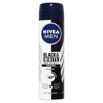 Nivea Men Black & White Invisible Original Anti-Transpirant 150 ml