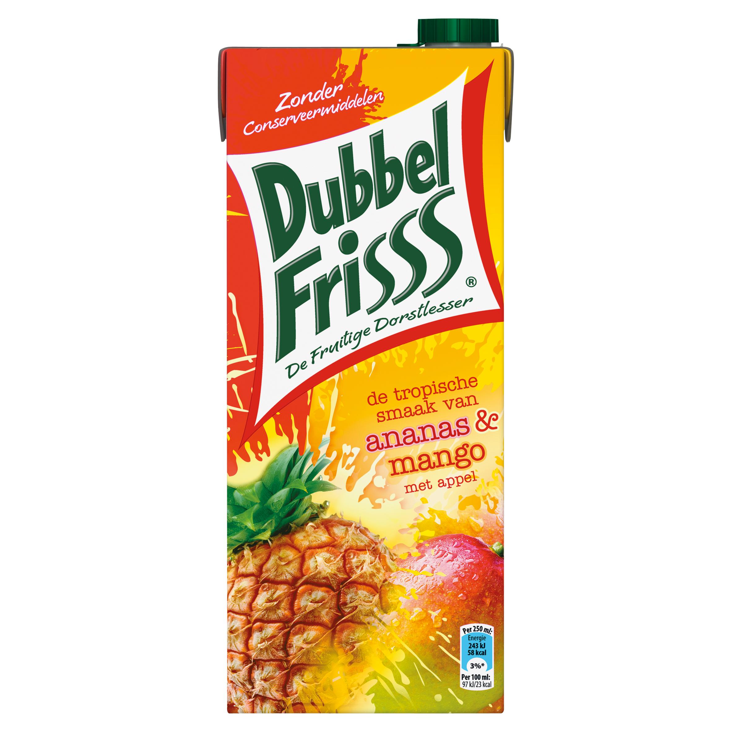 DubbelFrisss Ananas & Mango met Appel 1,5 L
