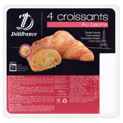 Délifrance Croissants Au Beurre 4 Stuks 180 g