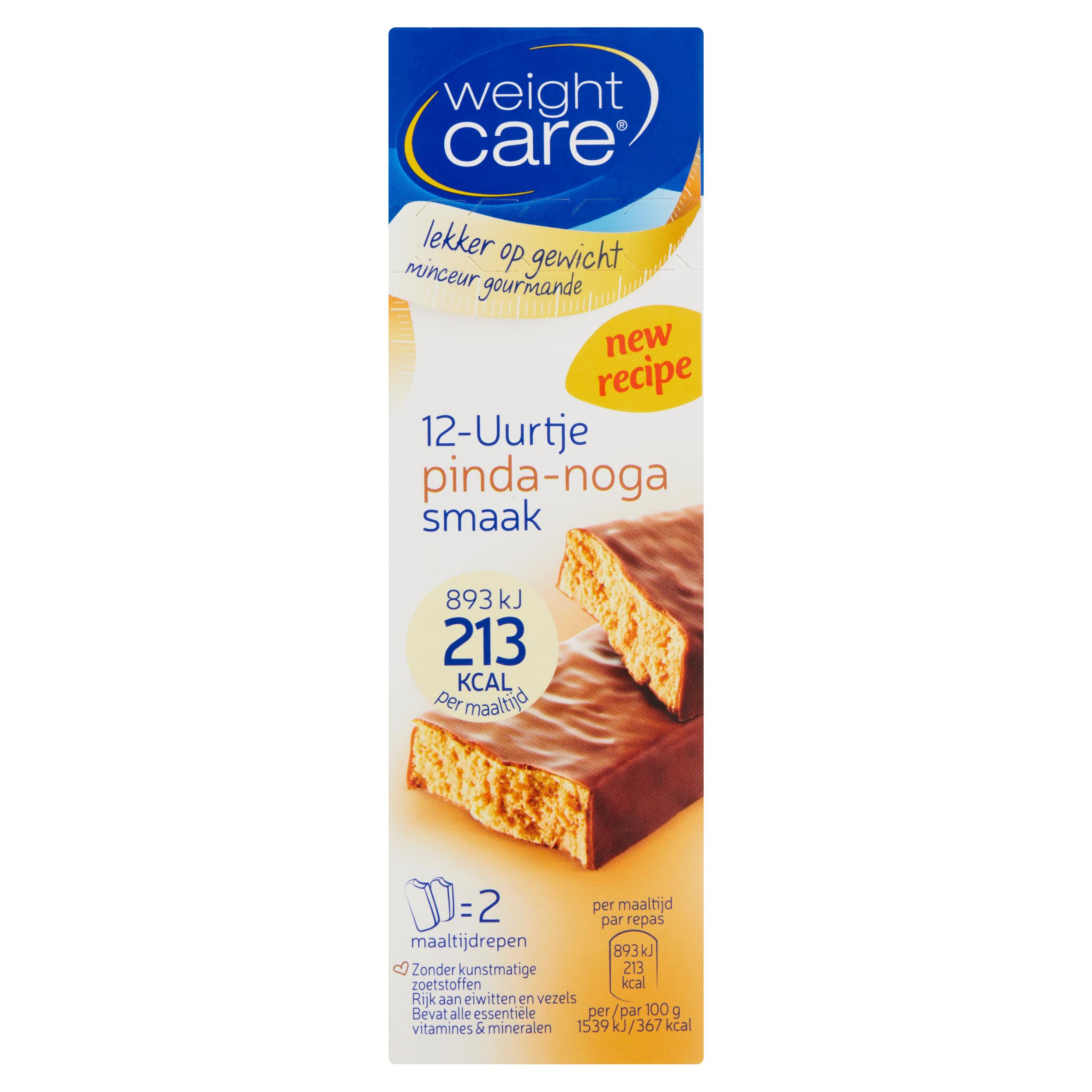 Weight Care 12-Uurtje Pinda-Noga Smaak 2 x 58 g