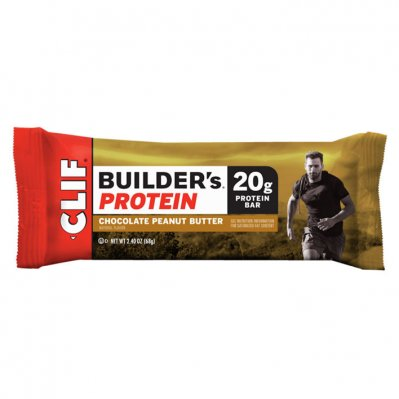 Clif Bar Builder's protein chocolate peanut but