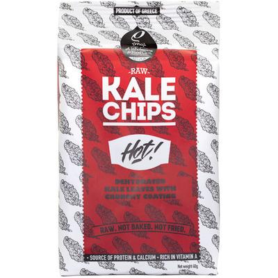 Rho Foods Kale chips hot