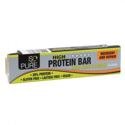 So Pure Fruit noot proteïne reep lemon chia