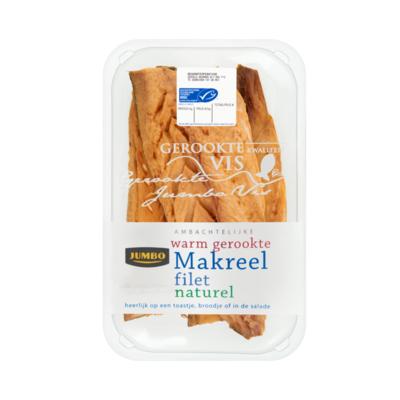 Huismerk Ambachtelijke Warm Gerookte Makreel Filet Naturel