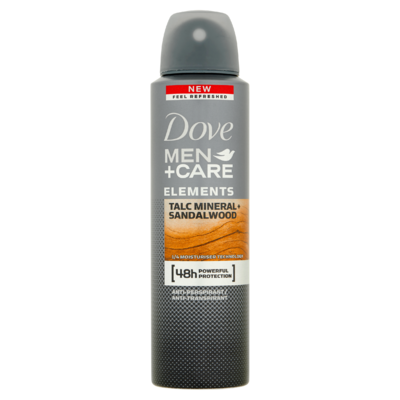 Dove Men+Care Elements Talc Mineral + Sandalwood Anti-Perspirant 150 ml