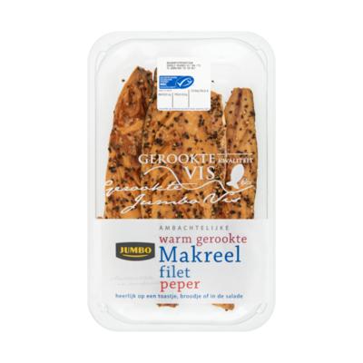 Huismerk Ambachtelijke Warm Gerookte Makreel Filet Peper