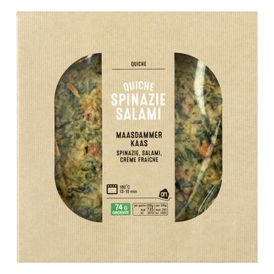 Huismerk Quiche spinazie salami