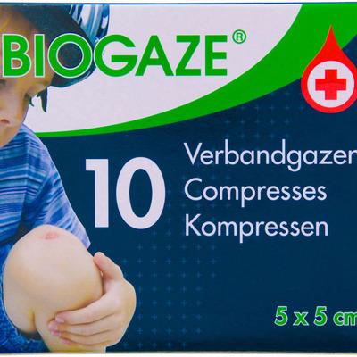 Biogaze Verbandgazen 5cm