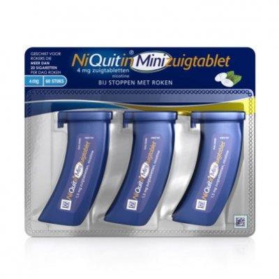 Niquitin Minimint zuigtabletten 4 mg
