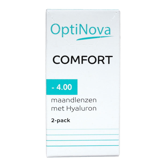 OptiNova Comfort maandlenzen hyaluron -4,00