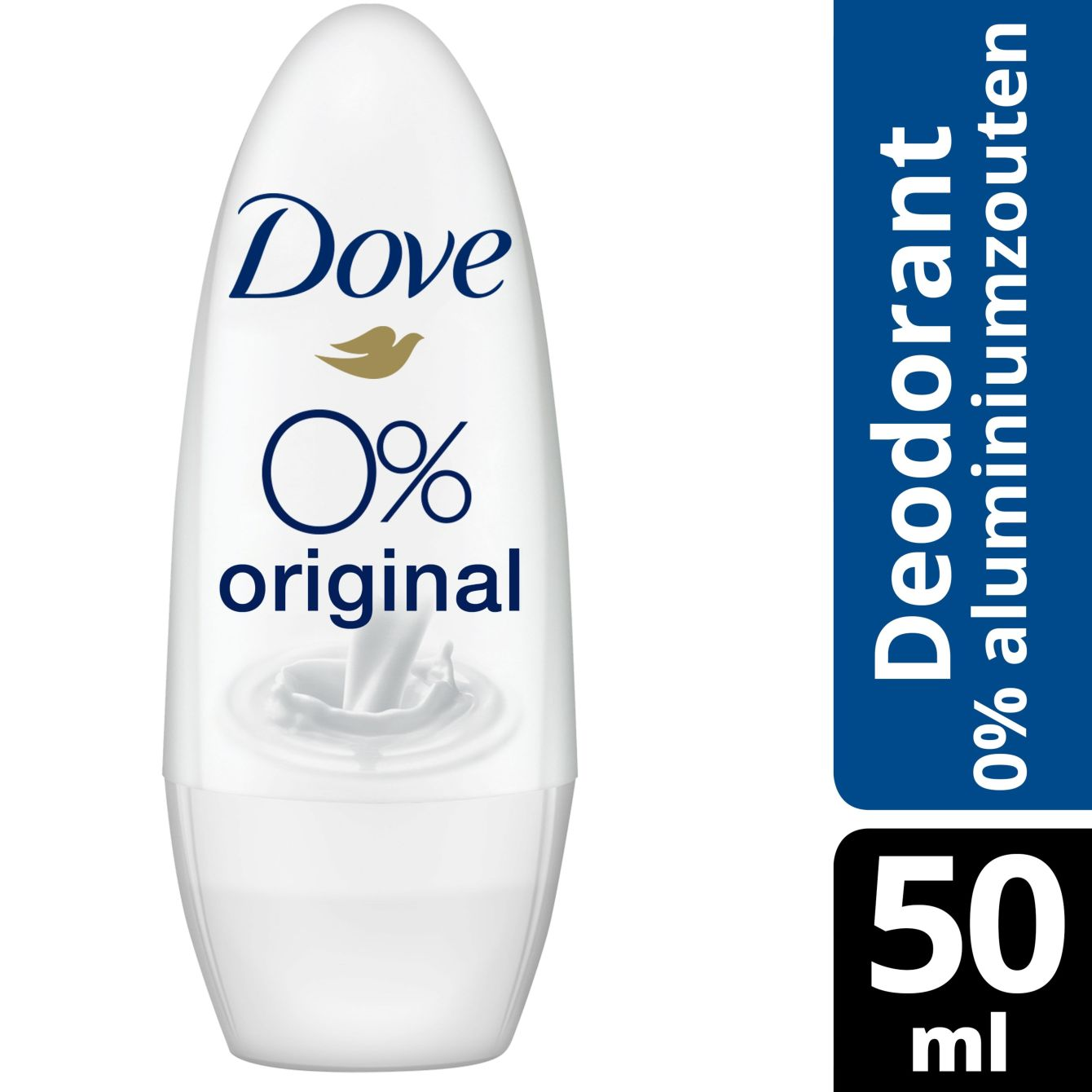Dove 0% Aluminiumzouten Original Deodorant Roller