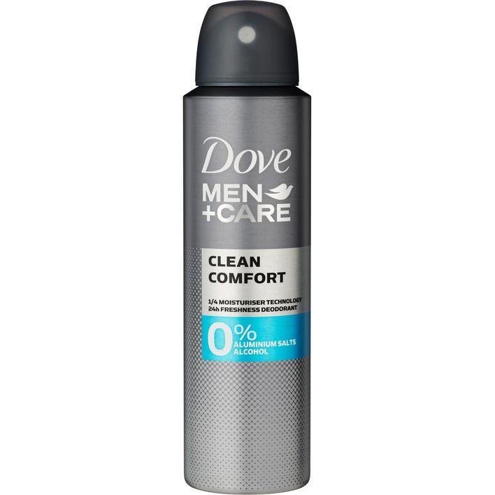 Dove Men+care 0% deodorant clean comfort