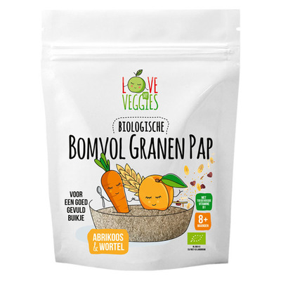 Love my veggies Bomvol granen pap 8m