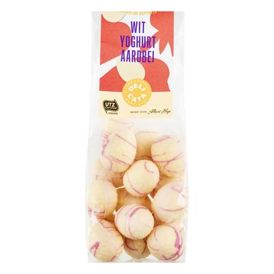 Delicata Paaseitjes wit yoghurt aardbei