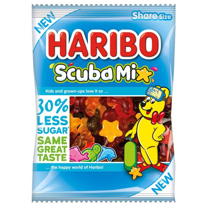 Haribo Scuba mix 30% minder suiker