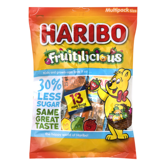 Haribo Fruitilicious 30% minder suiker