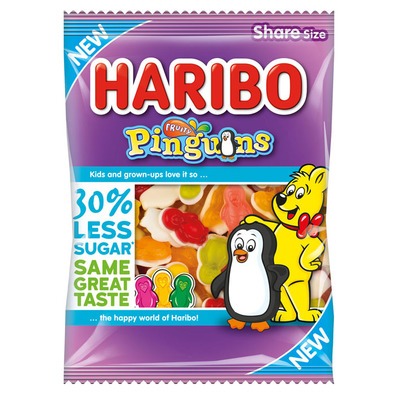 Haribo Fruity pinguins 30% minder suiker